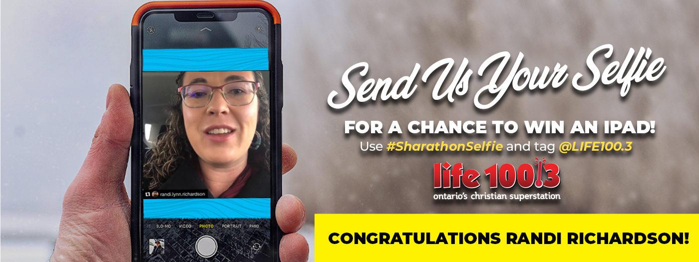 Send us your selfie winner slider