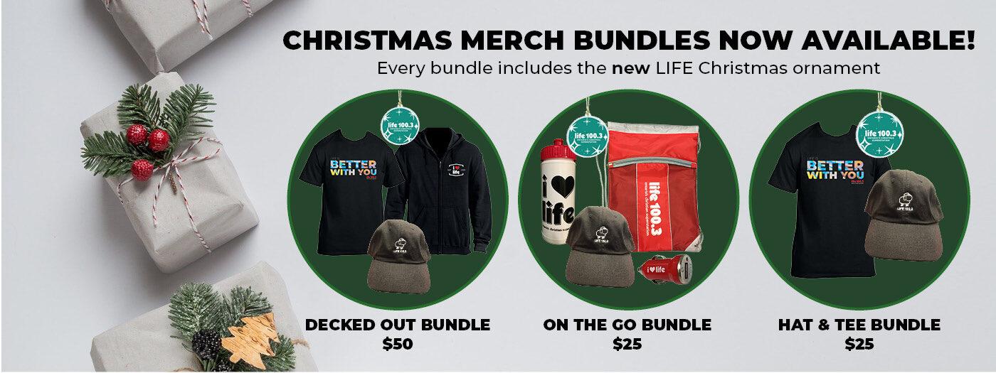 Christmas merch bundles slider